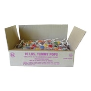 F.B. Washburn Candy Candy Yummy Pops Lollipops, Variety, 160 Oz., 10/Carton (331S)