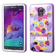 Insten Peace Ladybugs/ElectrIc Purple VERGE HybrId Hard Shockproof SIlIcone Case Stand For Samsung Galaxy Note 4 N9100