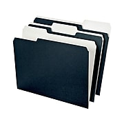 Ampad Envirotec 100% Recycled File Folders, 3 Tab, Letter Size, Black, 50/Pack (16101)