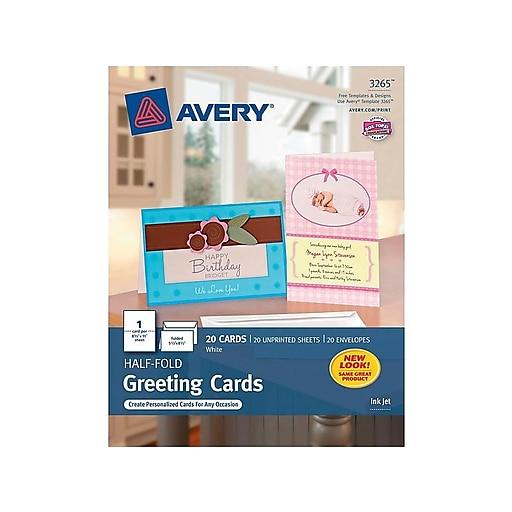 1b2d987c79f18 Avery Half-Fold Anytime Cards, 20/Box (3265)