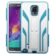 Insten Extreme Tuff Hard HybrId Case Stand KItstand Back Shell Cover For Samsung Galaxy Note 4 WhIte/Blue