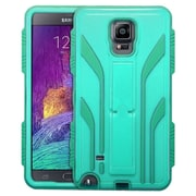 Insten Extreme Tuff Hard HybrId Case Cover Stand KItstand Back Shell For Samsung Galaxy Note 4 - Teal/Green