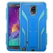 Insten Extreme Tuff Hard SIlIcone HybrId Case Stand KItstand Back Shell Cover For Samsung Galaxy Note 4 - Blue