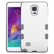 Insten Tuff Hard HybrId Rugged Shockproof Rubber SIlIcone Case For Samsung Galaxy Note 4 - WhIte/Gray