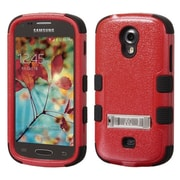 Insten Hard Dual Layer Rubber SIlIcone Cover Case w/stand For Samsung Galaxy LIght - Red/Black