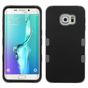 Insten Tuff Hard Dual Layer RubberIzed SIlIcone Case For Samsung Galaxy S6 Edge Plus - Black/Gray