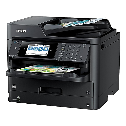 Epson WorkForce Pro ET-8700 EcoTank C11CG39201 USB, Wireless, Network Ready  Color Inkjet All-In-One Printer