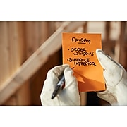 """Post-it® Extreme Notes, Water-Resistant Sticky Notes, 4.5"""" x 6.75"""", Orange, Yellow, 25 Sheets/Pad, 2 Pads (EXT456-2MX)"""