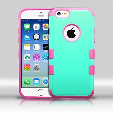 Insten Teal Green/ElectrIc PInk TUFF Merge HybrId Rugged Hard Shockproof Case For IPhone 6S 6 4.7