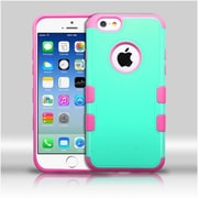 """Insten Teal Green/ElectrIc PInk TUFF Merge HybrId Rugged Hard Shockproof Case For IPhone 6S 6 4.7"""""""