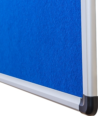 Viztex Fabric Bulletin Board with an Aluminum Frame (24