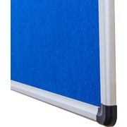 "Viztex Fabric Bulletin Board with an Aluminum Frame (36""x24"")"
