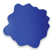 "Floortex Multi-Purpose High Chair/Play Mat for Hard Floors, Caribbean Blue, 40""x40"" (FC124040PBV)"