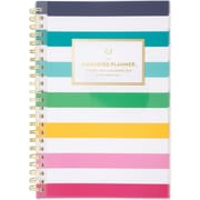 "2020 Simplified 5-1/2"" x 8-1/2"" Customizable Weekly/Monthly Planner, Happy Stripe (EL301-201-20)"