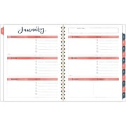 """2020 One Canoe Two for AT-A-GLANCE 8-1/2"""" x 11"""" Weekly/Monthly Planner, Twilight Floral (1250-905-20)"""