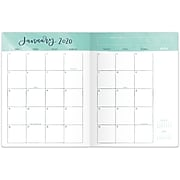 """2020 One Canoe Two for AT-A-GLANCE 8-1/2"""" x 11"""" Monthly Planner, Raleigh Floral (1249-091-20)"""