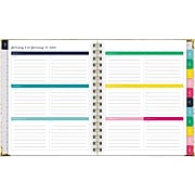 "2020 Simplified 7"" x 9"" Weekly/Monthly Hardcover Planner Gold Stripe (EL301-805-20)"