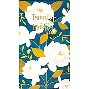 """2020 One Canoe Two for AT-A-GLANCE 3 1/2"""" x 6 3/16"""" Raleigh Floral 2 Year Monthly Pocket Planner (1249-021-20)"""