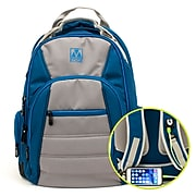 M-Edge Cargo Backpack w/Battery, Blue/Silver (BPK-CA6-PO-S)