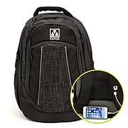 M-Edge Commuter Backpack w/Battery, Black (BPK-CO6-PO-B)