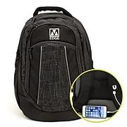 M-Edge Commuter Backpack w/Battery, Black (BPK-CO6-PO-B)