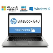 "HP Elitebook 840 G1 14"" Touch-Screen Laptop, Intel core i5 4300U 1.9 Ghz, Refurbished"