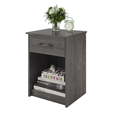 Ameriwood Home Core Nightstand, Dark Gray Oak (5497213COM)