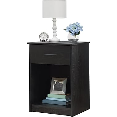Ameriwood Home Core Nightstand, Black (5497026COM)