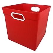Romanoff Cube Bin Red, Set of 3 (ROM72502BN)