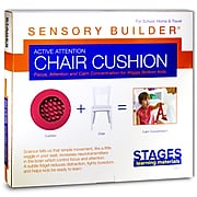 Stages Learning Materials Sensory Builder® Active Attention Chair Cushion, Red (SLM2102)