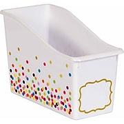 Teacher Created Resources Confetti Plastic Book Bin, Pack of 3 (TCR20335BN)