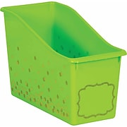 Teacher Created Resources Lime Confetti Plastic Book Bin, Pack of 3 (TCR20337BN)