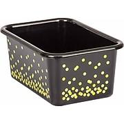 Teacher Created Resources Black Confetti Small Plastic Storage Bin, Pack of 6 (TCR20889BN)