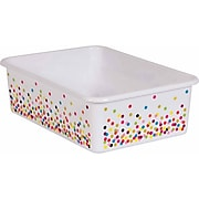 Teacher Created Resources Confetti Large Plastic Storage Bin, Pack of 5 (TCR20895BN)