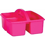 Teacher Created Resources Pink Plastic Storage Caddy, Pack of 6 (TCR20908BN)