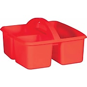 Teacher Created Resources Red Plastic Storage Caddy, Pack of 6 (TCR20910BN)