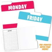 Top Notch Teacher Products Day Of The Week Design File Folders, 6 Packs, 6 Per Pack (TOP3393BN)