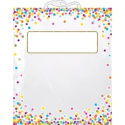 "Ashley Productions Hanging Confetti Pattern Storage/Book Bag, 10.5"" x 12.5"", Pack of 10 (ASH10560BN)"