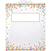 "Ashley Productions Hanging Confetti Pattern Storage/Book Bag, 10.5"" x 12.5"", Pack of 30 (ASH10566BN)"