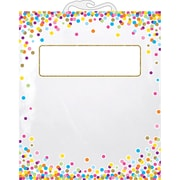 "Ashley Productions Hanging Confetti Pattern Storage/Book Bag, 11"" x 16"", Pack of 10 (ASH10580BN)"