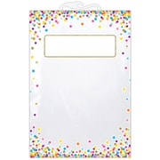 "Ashley Productions Hanging Confetti Pattern Storage/Book Bag, 11"" x 16"", Pack of 25 (ASH10585BN)"