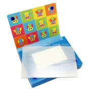 """Ashley Productions Large Poly Index Card Boxes, 4"""" x 6"""", Colorful Owls, Pack of 5 (ASH90452)"""