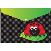 """Ashley Productions Smart Poly™ Folders, 9.5"""" x 13"""", Snap Button Enclosure, Ladybug, Pack of 6 (ASH90603)"""