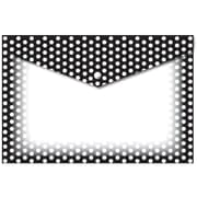 """Ashley Productions Smart Poly™ Folders, 9.5"""" x 13"""", Snap Button Enclosure, B&W Dots, Pack of 6 (ASH90605)"""