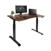 Astounding Seville Classics Airlift Electric Standing Desk Black With Walnut Top Offk65824 Interior Design Ideas Clesiryabchikinfo