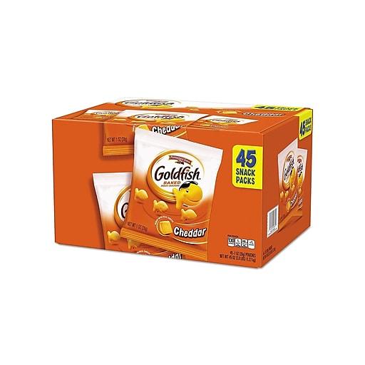 Pepperidge Farm Goldfish Crackers, Cheddar, 1 Oz., 45/Carton (1051900)