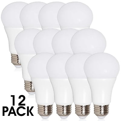 Maxxima A19 LED Light Bulb 800 Lumens 10 Watts Warm White, 12 Pack (MLB-191050W-12)