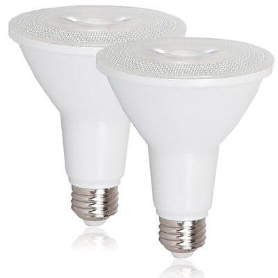 Maxxima PAR30 Indoor/Outdoor Dimmable LED Warm White Bulb 800 Lumens, 2 Pack (MLB-PAR30100W-2)