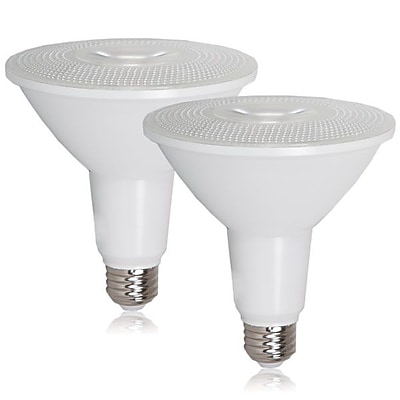 Maxxima PAR38 Indoor/Outdoor Dimmable LED Warm White Bulb 1200 Lumens, 2 Pack (MLB-PAR38150W-2)