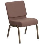 HERCULES Series 21'' Extra WideFabric Stacking Church Chair with 4'' Thick Seat - Vein Frame